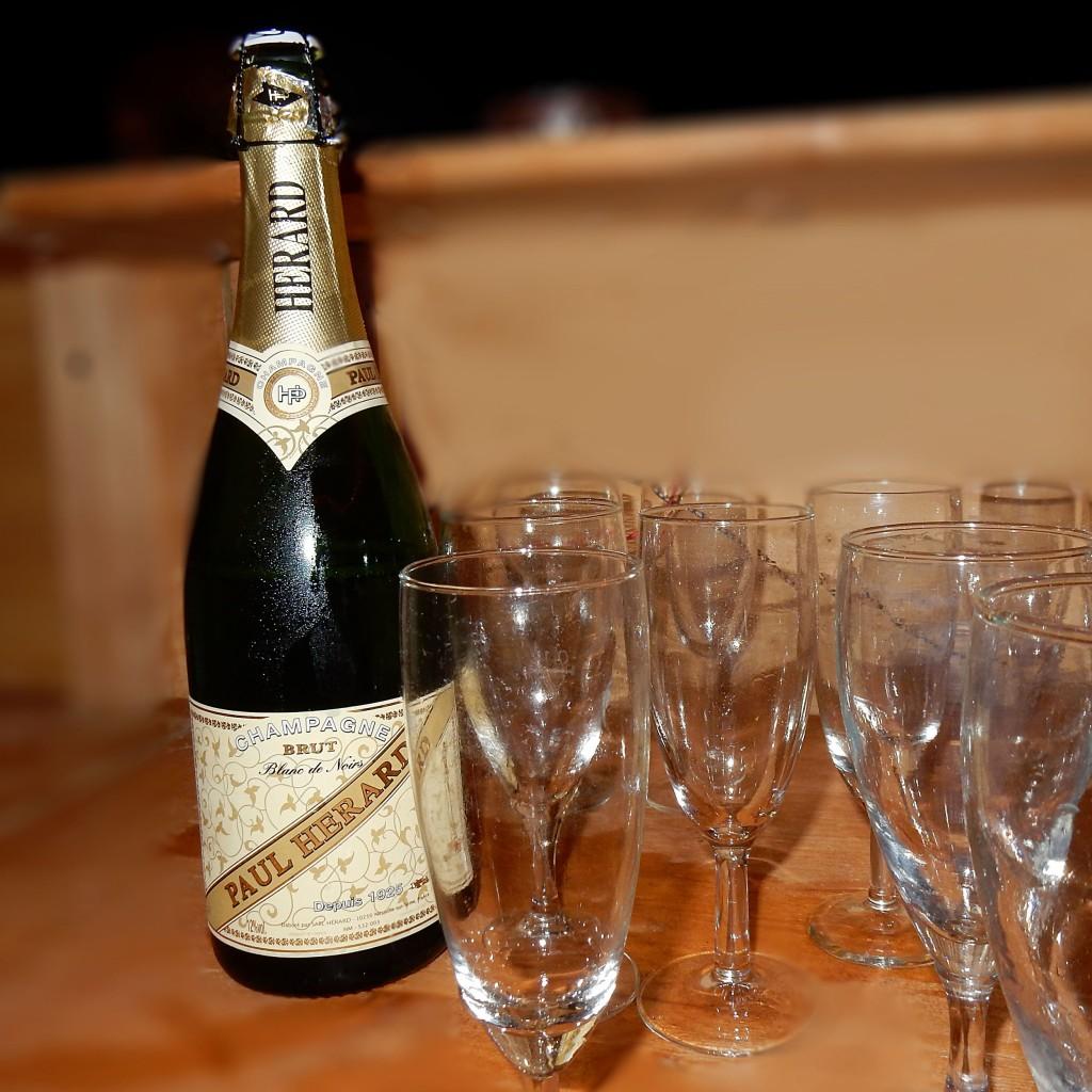 Champagnerflasche ret
